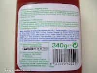 Ingredientes y valores nutricionales del ketchup Carrefour Discount