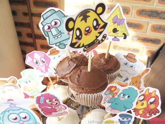 Moshi Monster party printable cupcakes