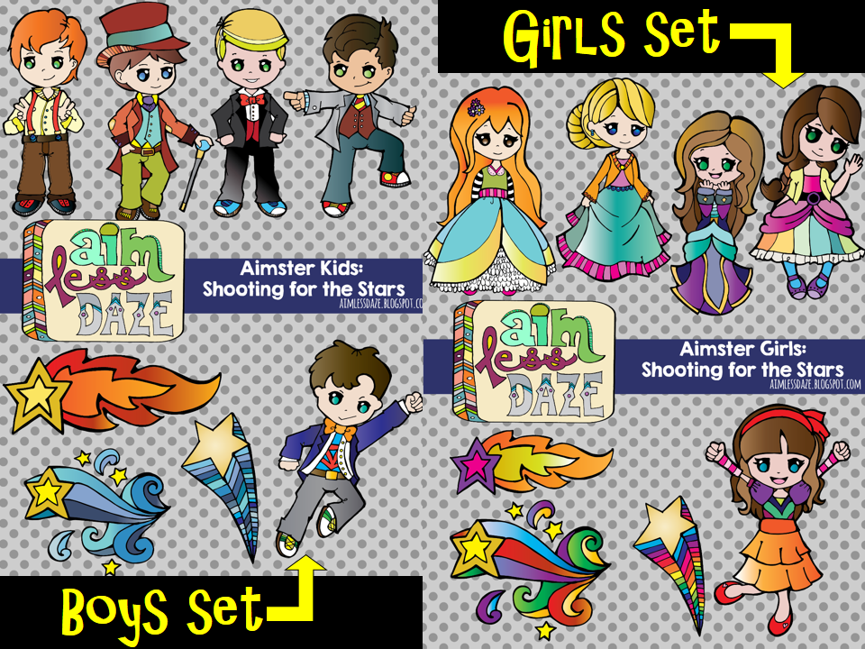 http://www.teacherspayteachers.com/Product/Aimster-Girls-Shooting-for-the-Stars-Clipart-1177536