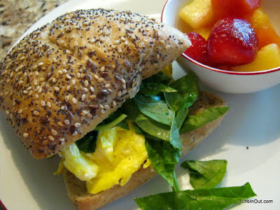 Spinach Recipes - Easy Spinach Breakfast Sandwich from The Spinach Collection by Merry Citarella