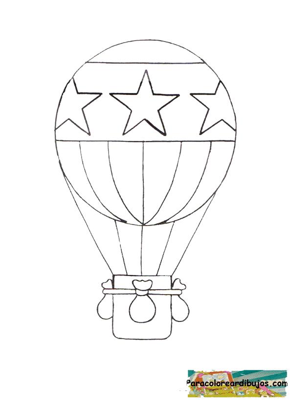 globo aerostatico para colorear