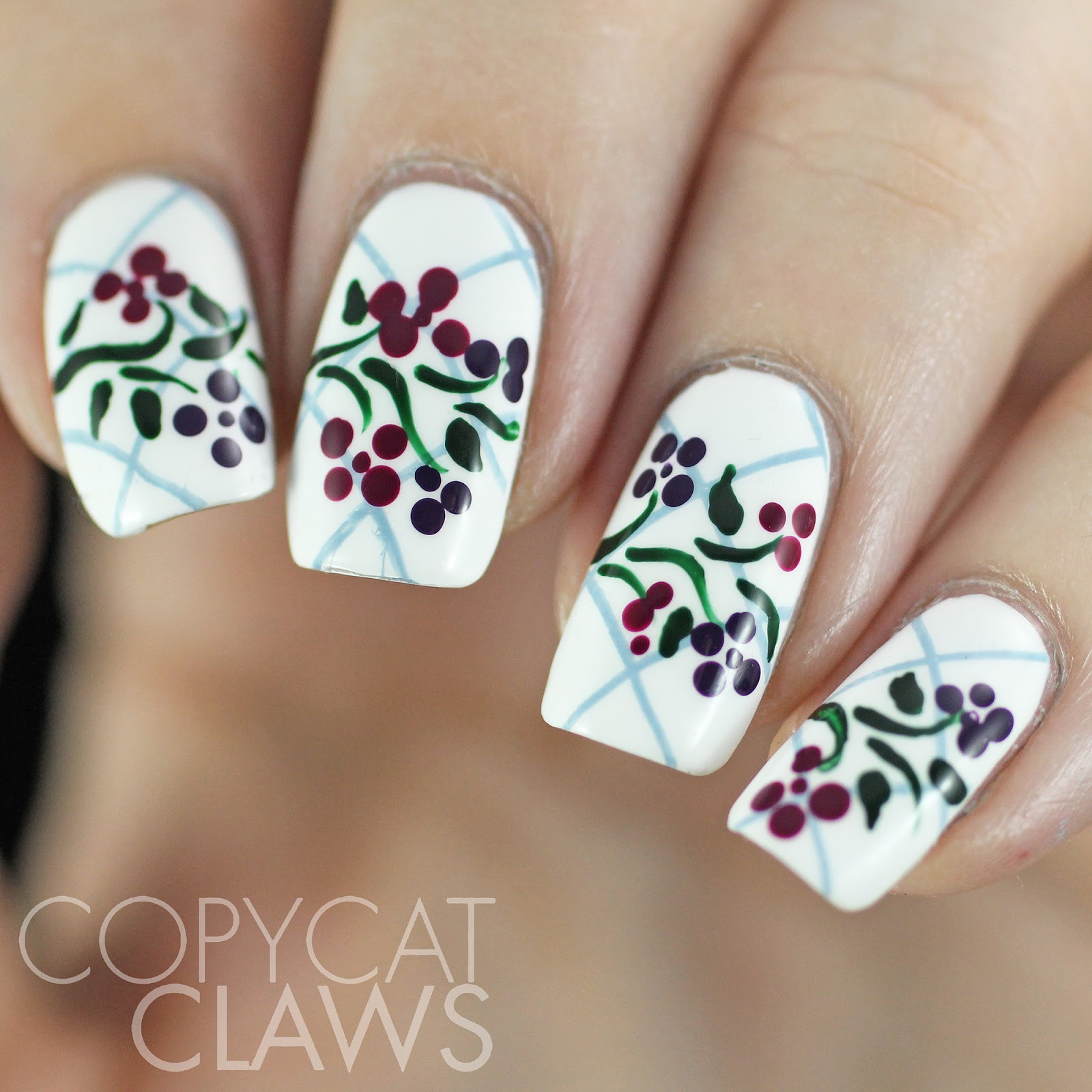 Copycat Claws Blue Color Block Nail Art: Copycat Claws: The Digit-al Dozen Does Patterns On