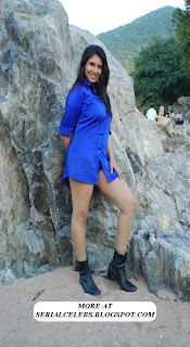 Aunty Actress Sanghavi thigh show