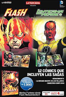 promoción lanzamiento The Flash y Sinestro Corps War