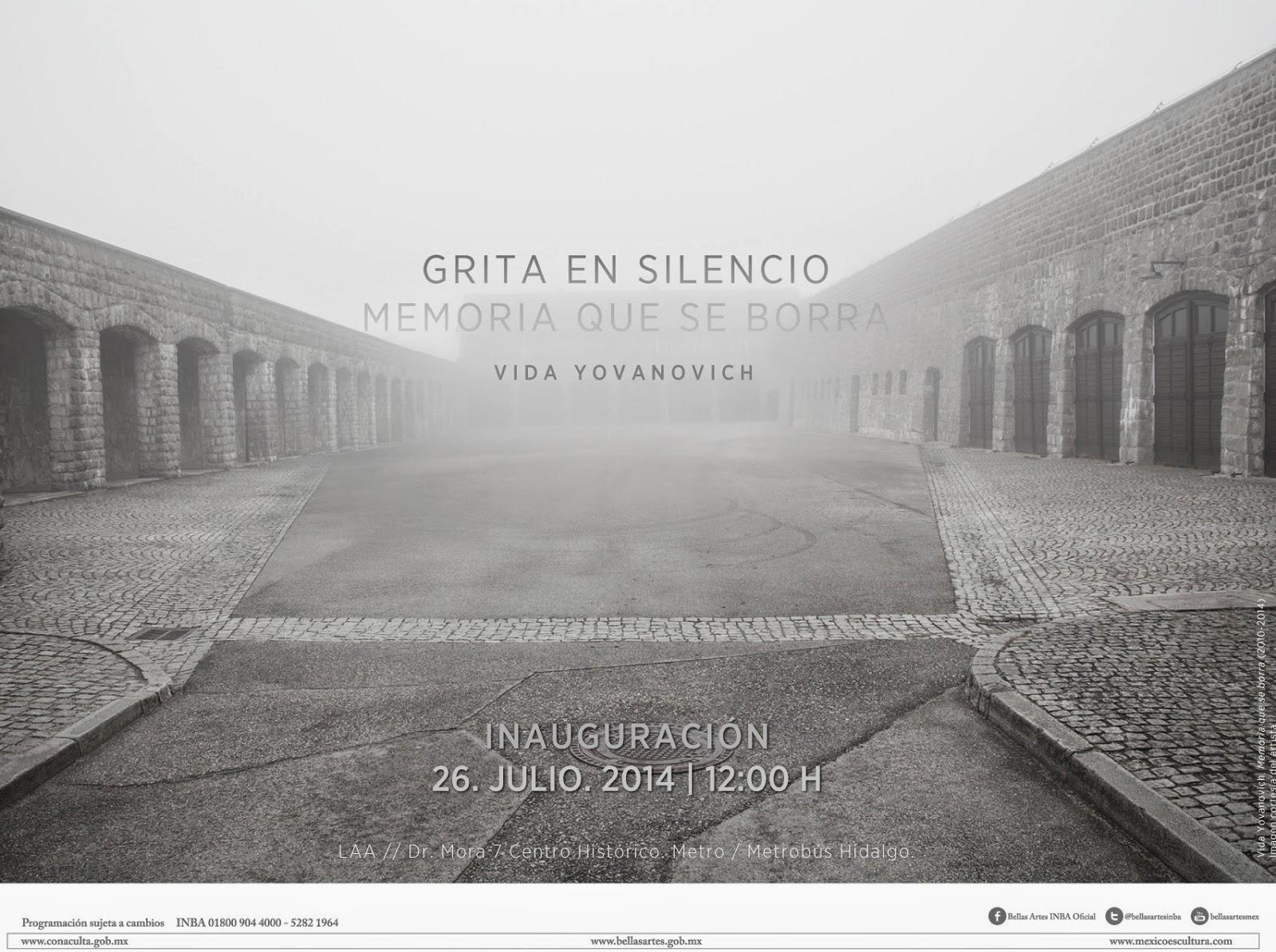 """""""Grita en silencio/Memoria que se borra"""" de Vida Yovanovich en el Arte Alameda"""