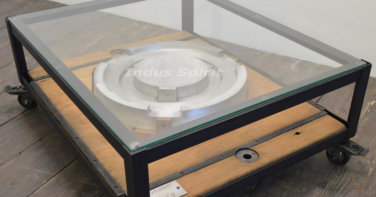 Table basse design industriel for Table basse style industriel