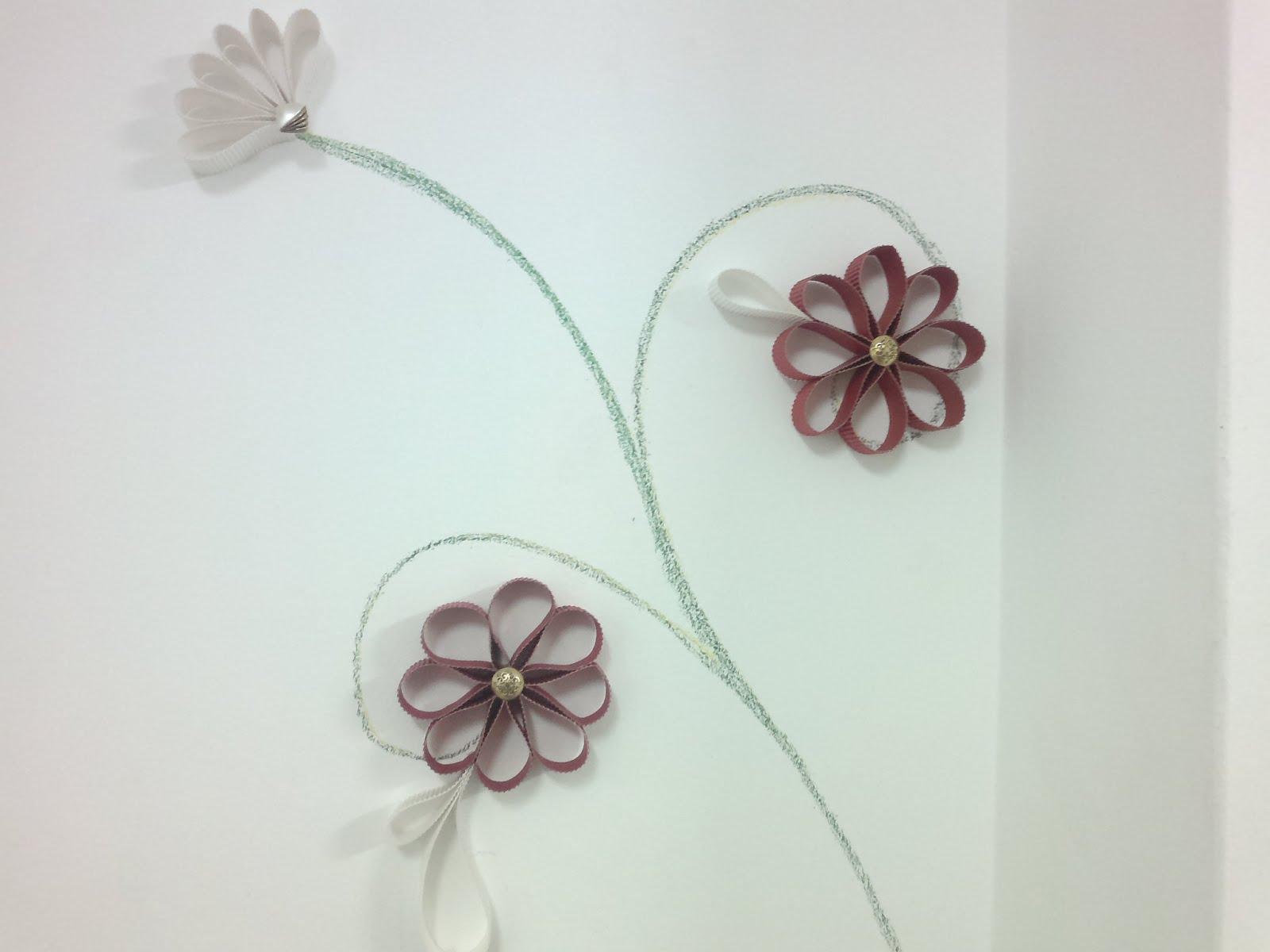 Las cosas de paula en verducido flores de papel - Flores para decorar paredes ...