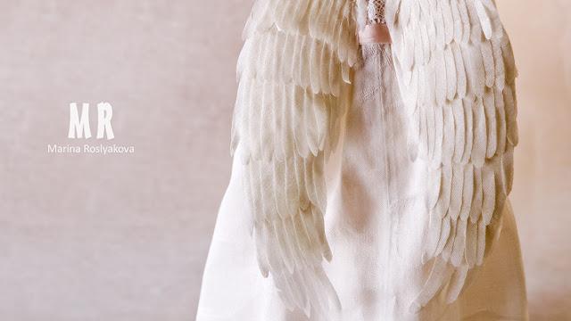 Ангел. Текстильная кукла. Игрушки ручной работы. Марина Рослякова. Marina Roslyakova. Angel. Hand made toys.