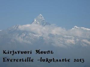 Kirjavuori Mount Everestille -lukuhaaste