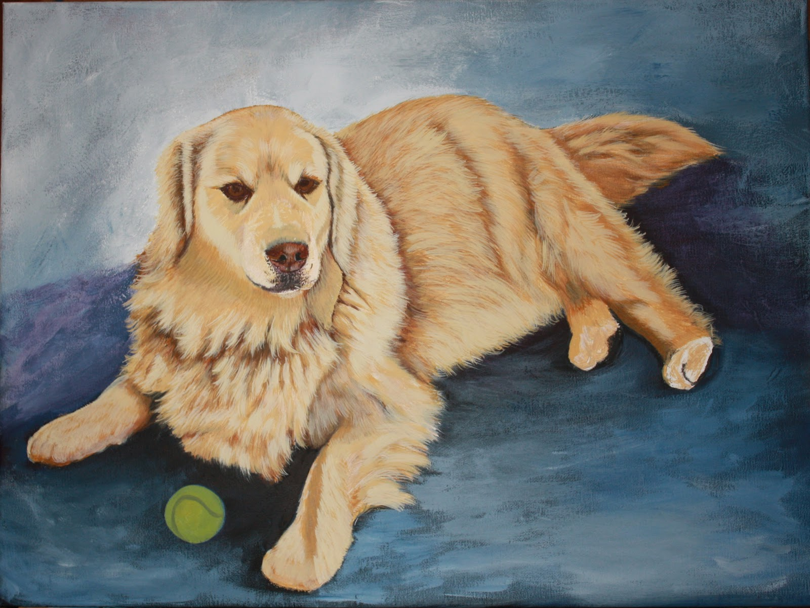 ... Designs - The Artists Way: More of Calvin, my 3rd Yellow Labrador