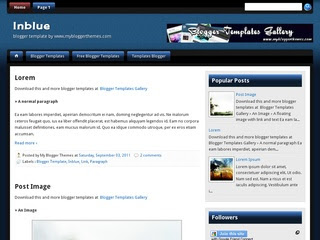 Inblue Blogger templates