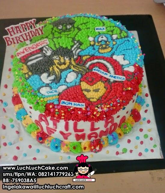 Kue Tart Buttercream Tema The Avengers Daerah Surabaya - Sidoarjo