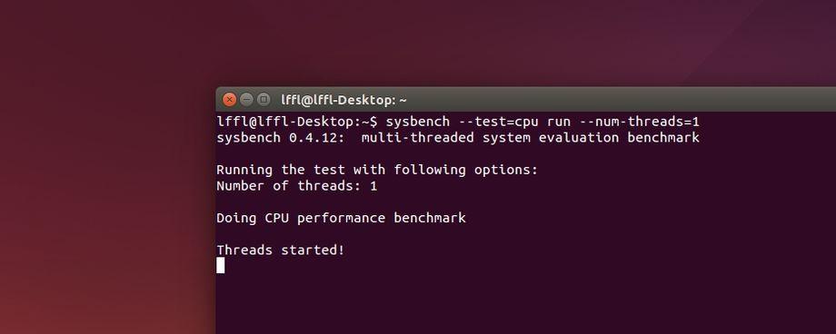 sysbench in Ubuntu