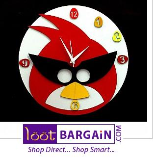 a funky angry birds wall clocks for children s room home