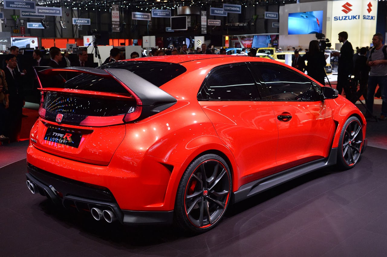 automotiveblogz honda civic type r concept geneva 2014 photos. Black Bedroom Furniture Sets. Home Design Ideas