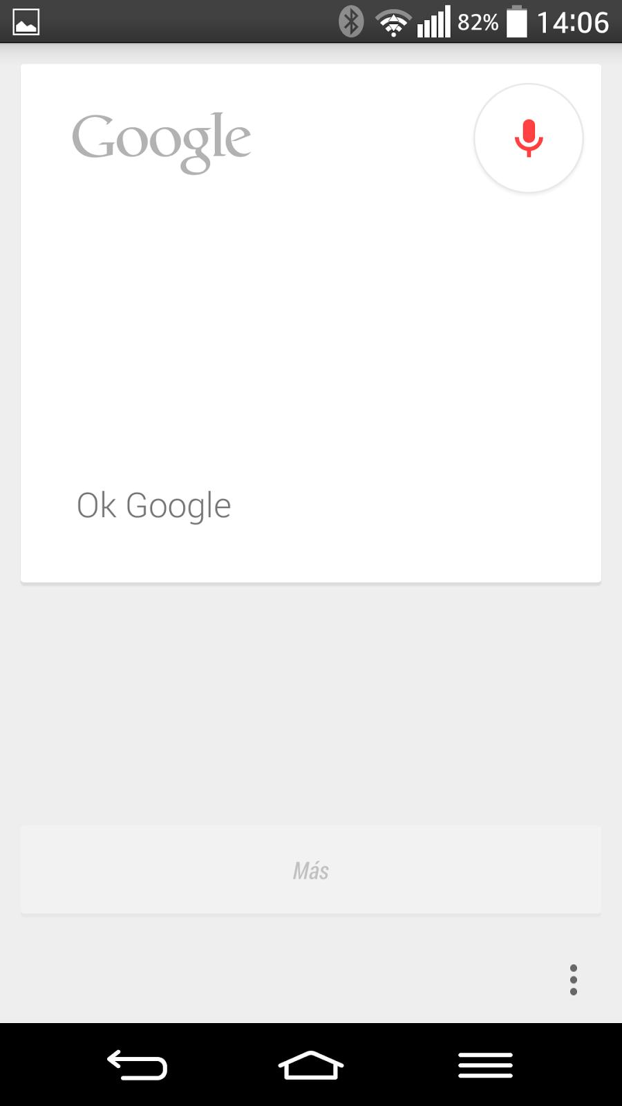Google Now se activa con OK Google.
