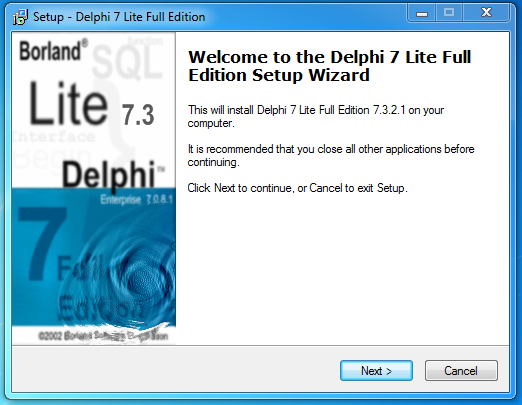 Delphi7 Lite Edition 7.3.4.3 2011-08-01 All Updates Integrated Optional D20