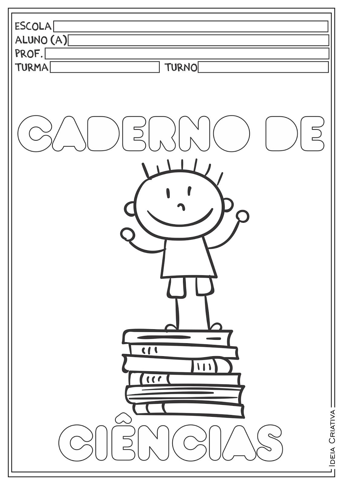 Capas para Cadernos para Ensino Fundamental