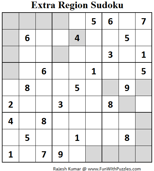 Extra Region Sudoku (Fun With Sudoku #65)