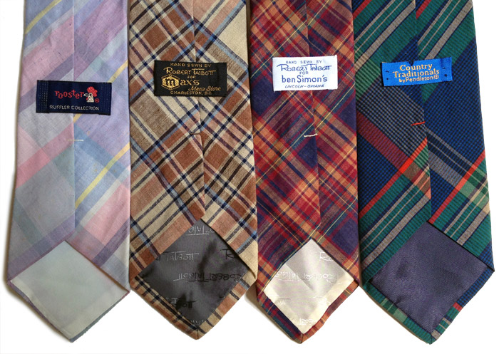 madras and plaid ties