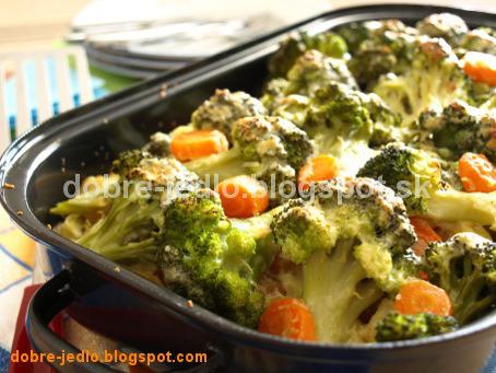 Zapečená brokolica so zeleninou - recepty