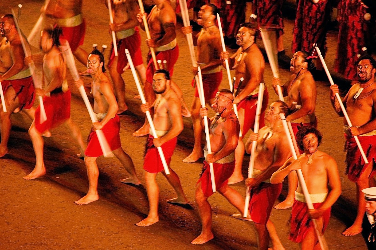 Maori Dancers performing a haka; Royal Edinburgh Military Tattoo