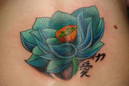 Tatuajes de flores japonesas -8