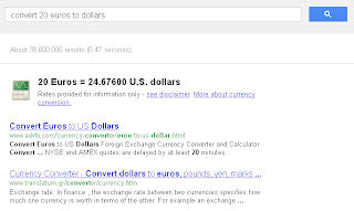 Use Google as a currency converter.
