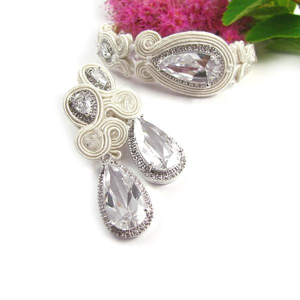 Biżuteria sutasz ivory do koronkowej sukni ślubnej
