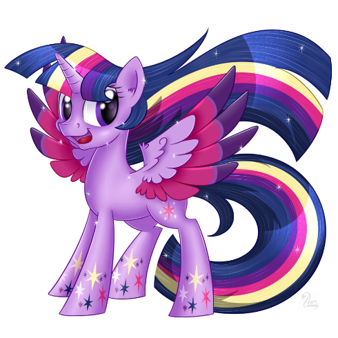 Rainbow Twilight by SwanLullaby