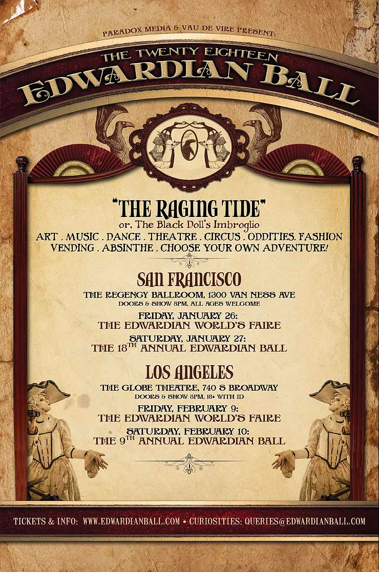 1/26 & 1/27 : The Edwardian World's Faire SF & 18th Annual Edwardian Ball SF