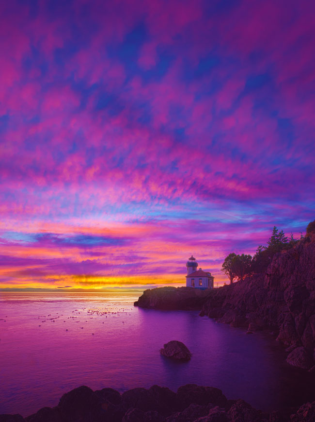 Lime Kiln Lighthouse San Juan Island sunset