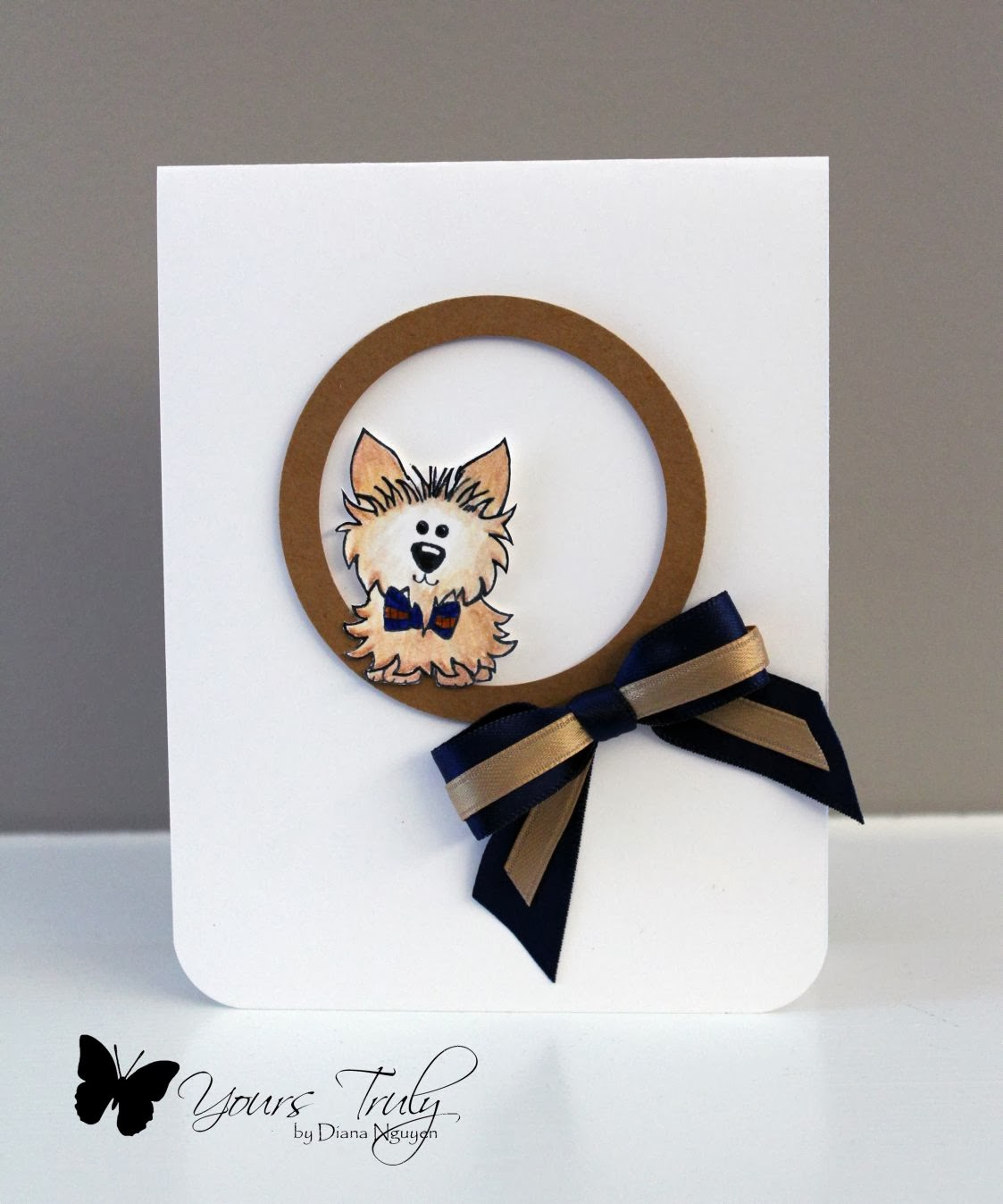 Diana Nguyen, puppy, handmade card