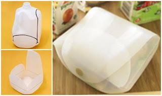 Reciclatex Cómo hacer una caja con un bote de plástico