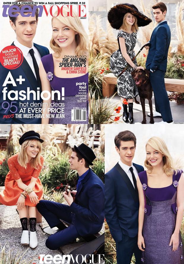 Porque amar Emma Stone_Andrew Garfield_capa da vogue teen_vestido roxo_o espetacular homem-aranha_spider man