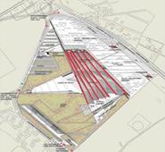 شكل توضيحي يُبيّن التقسيم السداسي المتبع في تشيد الكتلة المعمارية للمتحف المصري الكبير