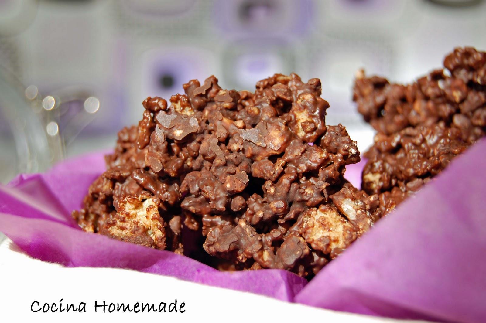 Rocas de chocolate cocina homemade - Recetas merienda cena informal ...