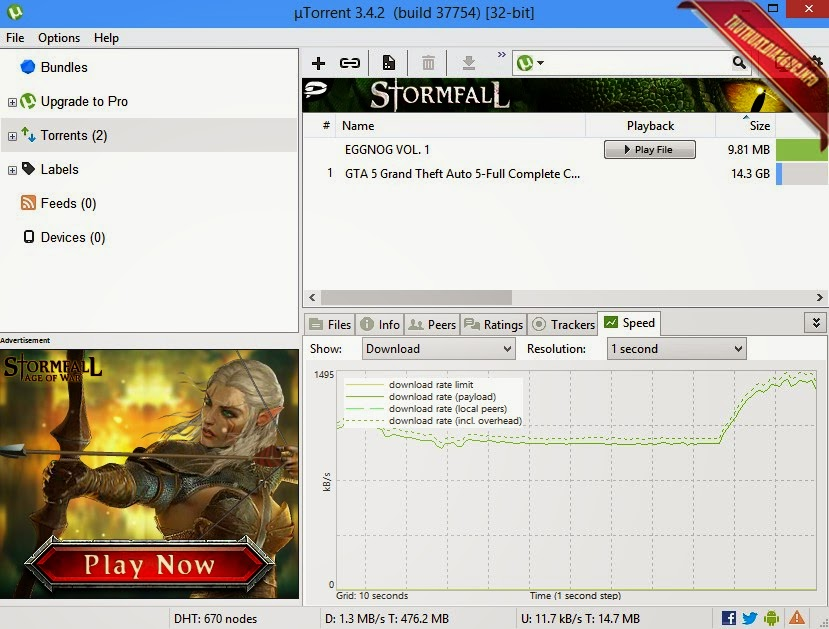 Download µTorrent 3.4.2 build 37754 mới nhất