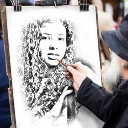 Fazer desenho realista a lápis com sua foto