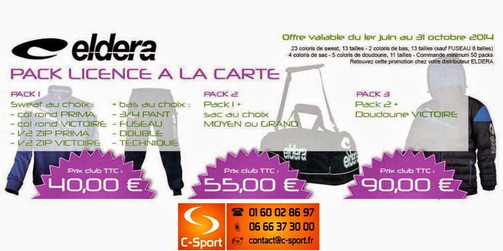 PACK LICENCE A LA CARTE = à partir de 40 €