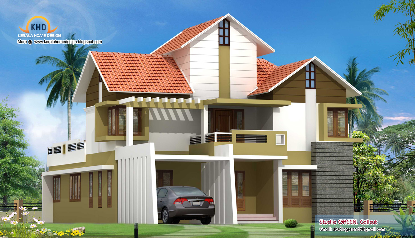 Modern contemporary villa design 2928 sq ft kerala for Villa plans in kerala
