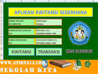 Download Aplikasi Membuat Kwitansi Sederhana BOS 2016