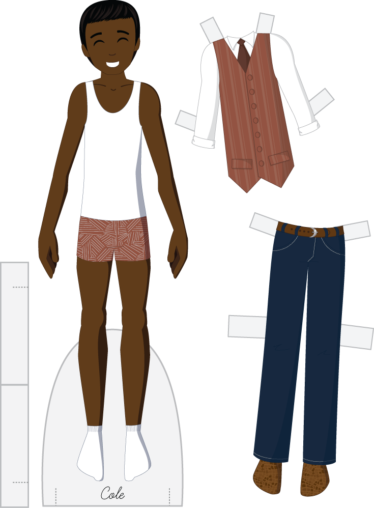 Cole - Fashion Friday Paper Doll