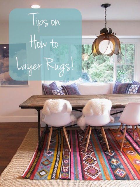 layering rugs, rugs in the kitchen, kitchen rug, bright kitchen rug, rug happy kitchen, eclectic dining, modern rug dining