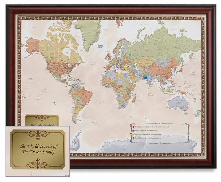 Personalized World Traveler Map