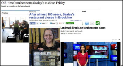 Montage of stories about Sealey's
