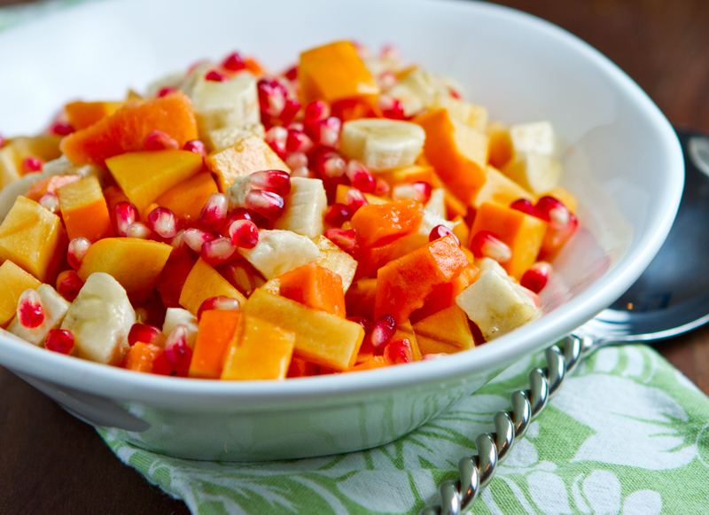 Persimmon Pomegranate Fruit Salad Recipes — Dishmaps
