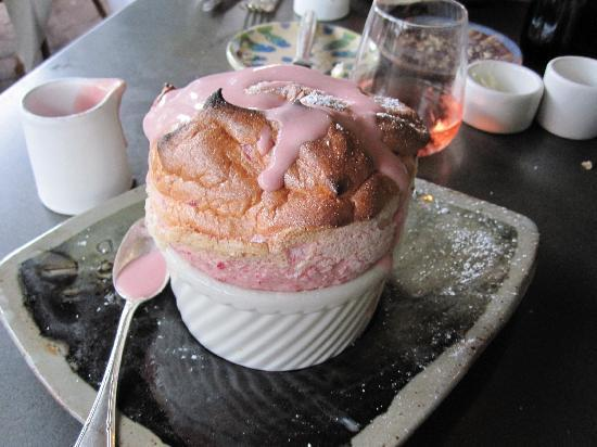 ... at Rise No 1, it is a strawberry souffle. WOW! That looks adorable