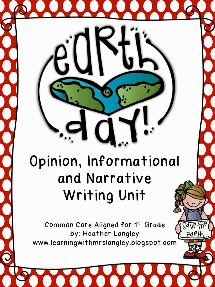 http://www.teacherspayteachers.com/Product/Earth-Day-Writing-Unit-First-Grade-1195314