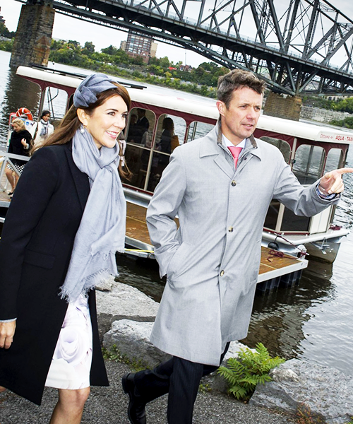 Crown Princess Mary and Crown Prince Frederik visiting Canada